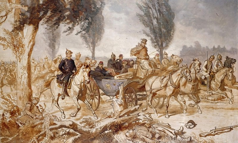 Bismarck and Napoleon III after the Battle of Sedan. Wilhelm Camphausen