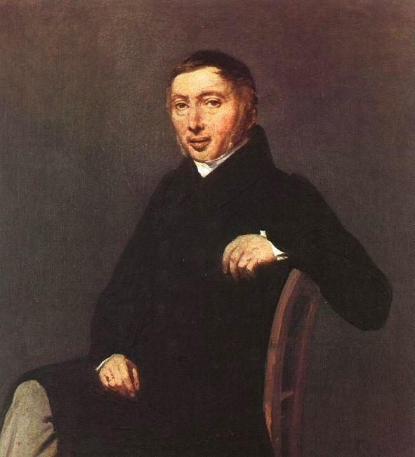 PORTRAIT OF LAURENT-DENIS SENNEGON, 1842, OIL ON C(1). Jean-Baptiste-Camille Corot