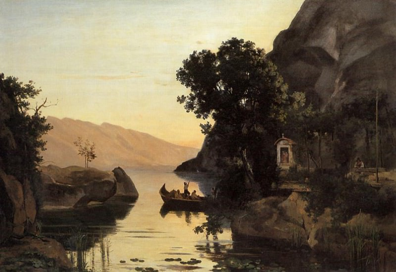 View at Riva Italian Tyrol. Jean-Baptiste-Camille Corot