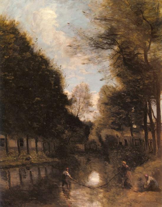 Gisors Riviere Bordee D arbres. Jean-Baptiste-Camille Corot
