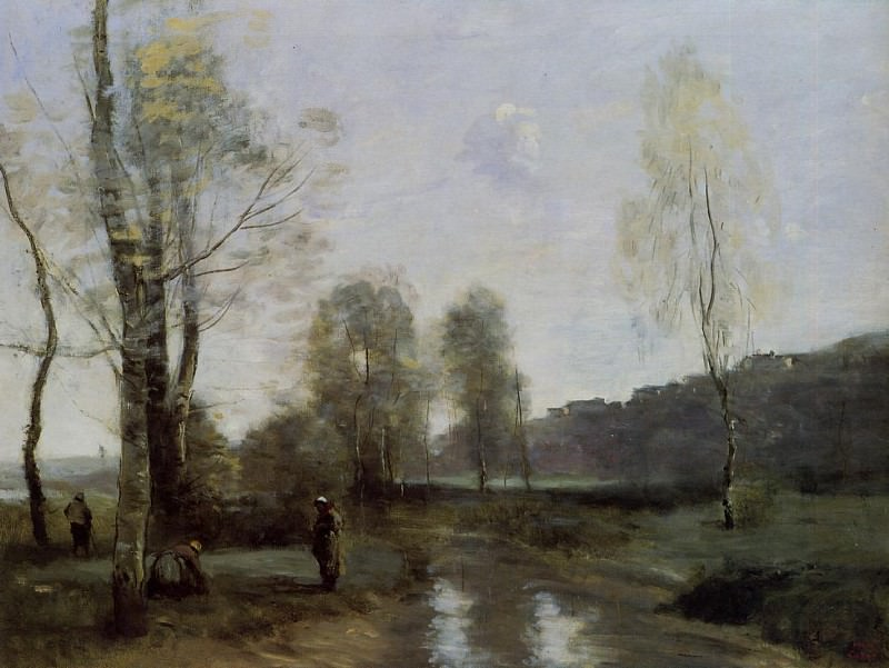 Canal in Picardi. Jean-Baptiste-Camille Corot
