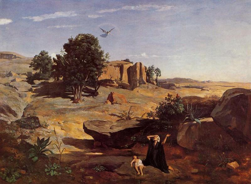 Hagar in the Wilderness. Jean-Baptiste-Camille Corot