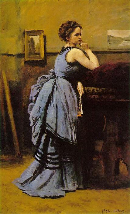 Lady in blue, 1874, Musee du Louvre, Paris. Jean-Baptiste-Camille Corot