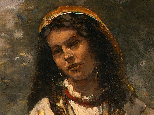 Gypsy Girl with Mandolin, probably c. 1870-1875, Det(1. Jean-Baptiste-Camille Corot
