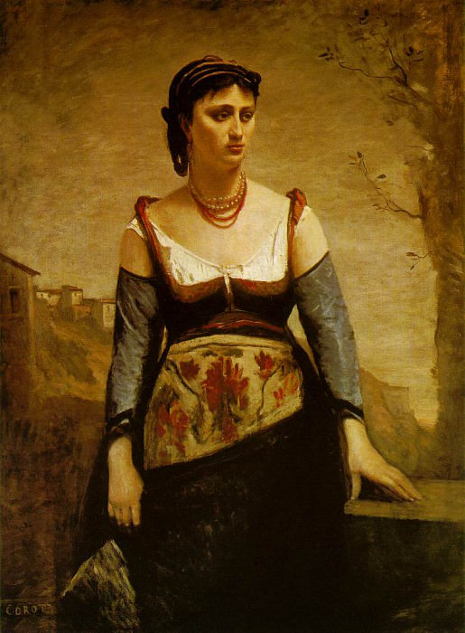 Agostina ca 1866, 132.8x97.6 cm, The National Gallery. Jean-Baptiste-Camille Corot