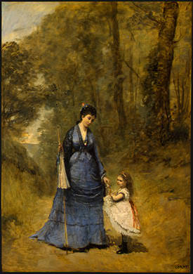 Madame Stumpf and Her Daughter, 1872, NG Washington. Jean-Baptiste-Camille Corot