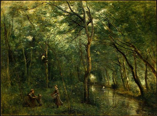 Собиратели угрей, ок.1860-65. Жан-Батист-Камиль Коро