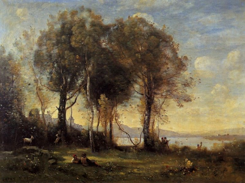 Goatherds on the Borromean Islands. Jean-Baptiste-Camille Corot