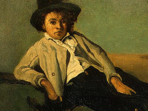 Italian Peasant Boy, 1825-1826, Detalj 1, NG Washingto. Jean-Baptiste-Camille Corot