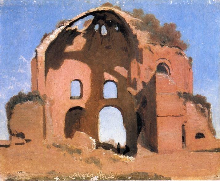 Temple of Minerva Medica Rome. Jean-Baptiste-Camille Corot