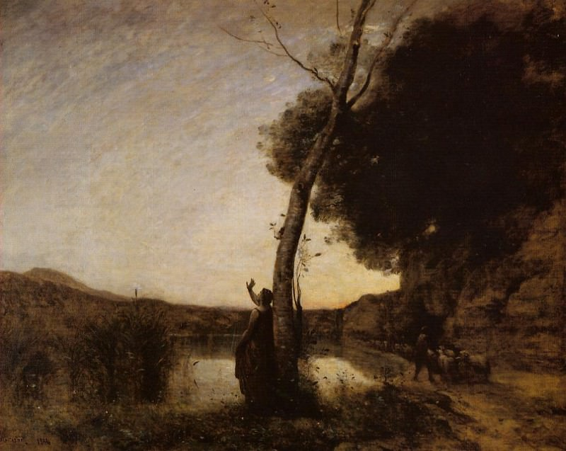 The Evening Star. Jean-Baptiste-Camille Corot