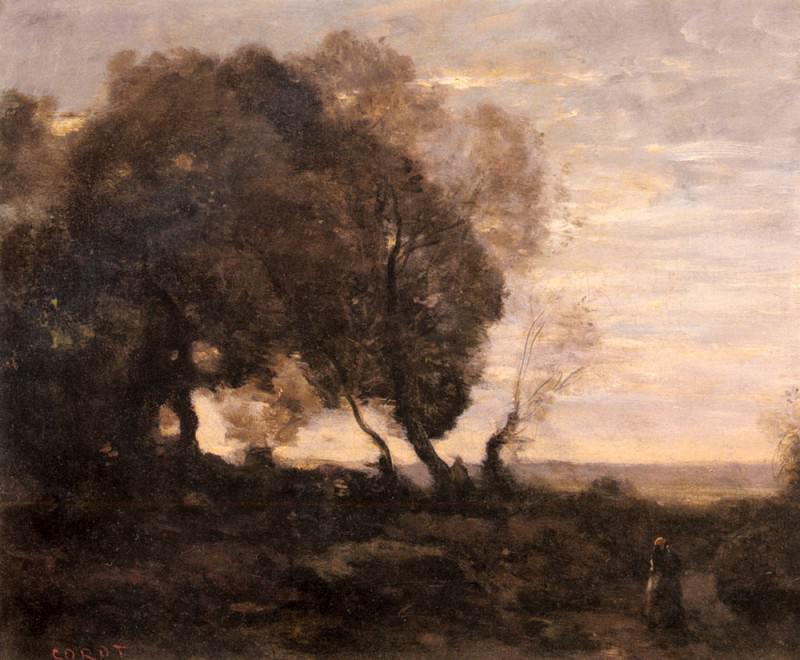 Arbres Tordus Sur Une Crete. Jean-Baptiste-Camille Corot
