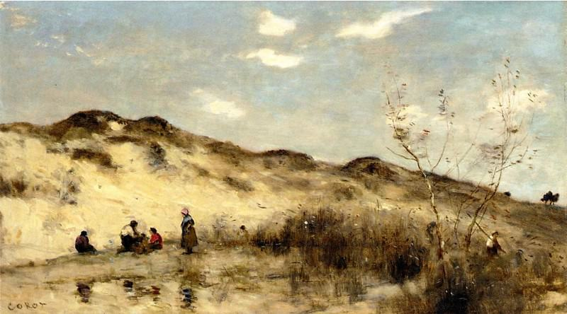 A Dune at Dunkirk. Jean-Baptiste-Camille Corot