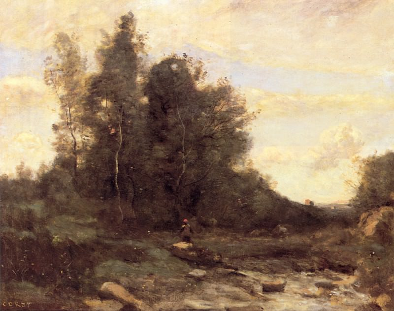 Le torrent pierreaux. Jean-Baptiste-Camille Corot