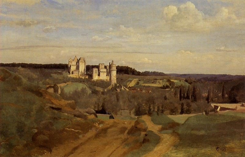 View of Pierrefonds. Jean-Baptiste-Camille Corot