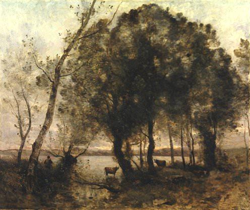 Озеро, 1861. Жан-Батист-Камиль Коро