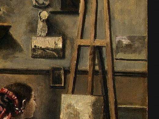 The Artists Studio, c. 1855-1860, Detalj 2, NG Washin. Jean-Baptiste-Camille Corot