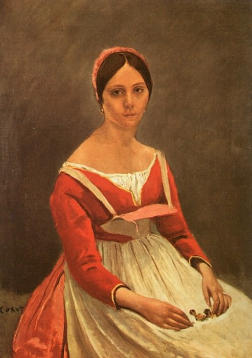 PORTRAIT OF MME. LEGOIS, 1838, OIL ON CANVAS. Jean-Baptiste-Camille Corot