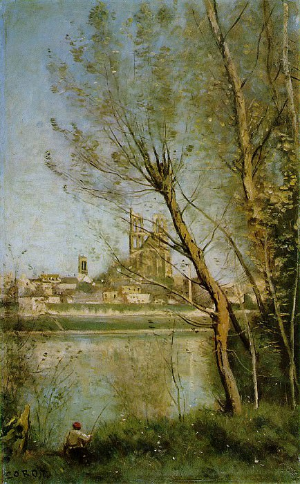 The Cathedral of Mantes, 1865-1869, Musee Saint Denis,. Jean-Baptiste-Camille Corot