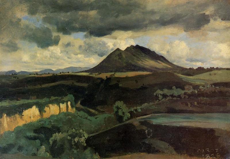 La Monta Soracte. Jean-Baptiste-Camille Corot