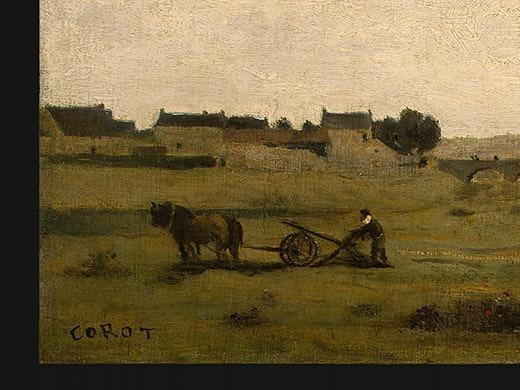 View near Epernon, 1850-1860, Detalj 1, NG Washington. Jean-Baptiste-Camille Corot