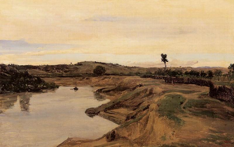 The Poussin Promenade aka Roman Campagna. Jean-Baptiste-Camille Corot