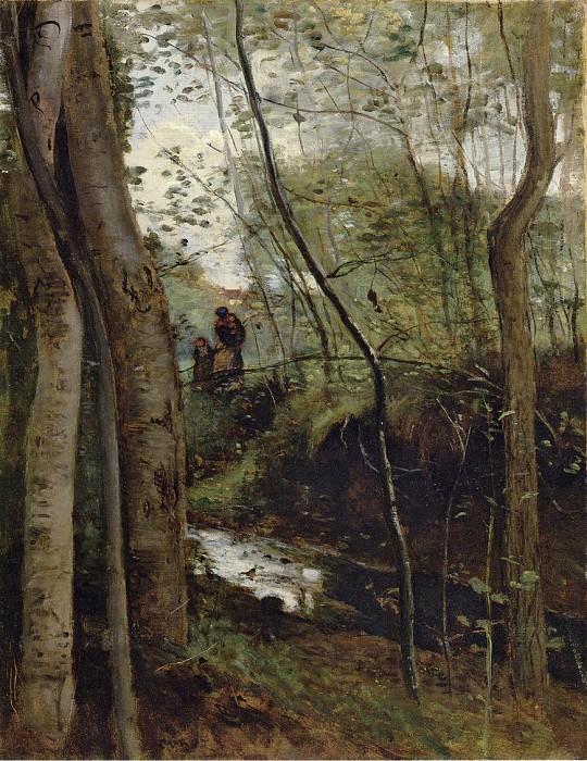 Stream in the Woods aka Un ruisseau sous bois. Jean-Baptiste-Camille Corot
