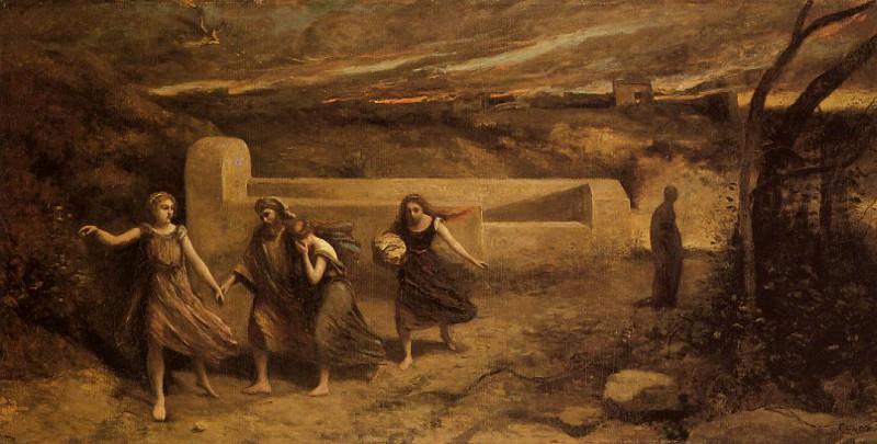The Destruction of Sodom. Jean-Baptiste-Camille Corot