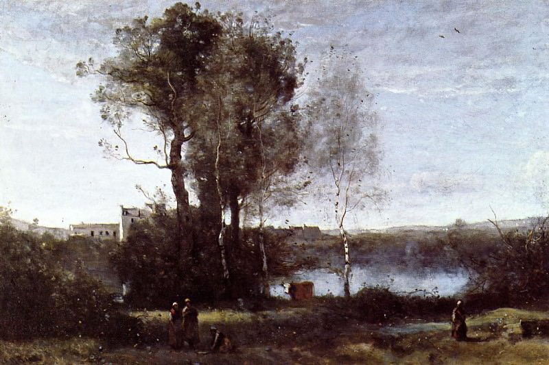 Large Sharecropping Farm. Jean-Baptiste-Camille Corot