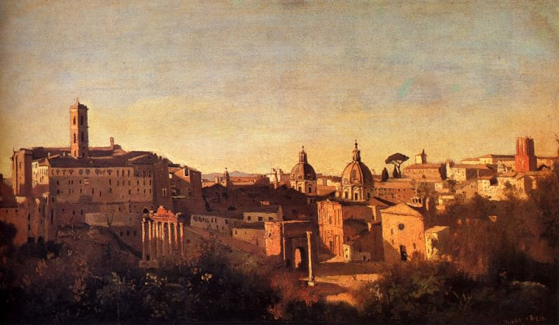 Forum Viewed From The Farnese Gardens. Jean-Baptiste-Camille Corot