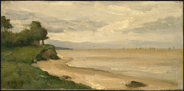 Beach near Etretat, 1872, NG Washington. Jean-Baptiste-Camille Corot