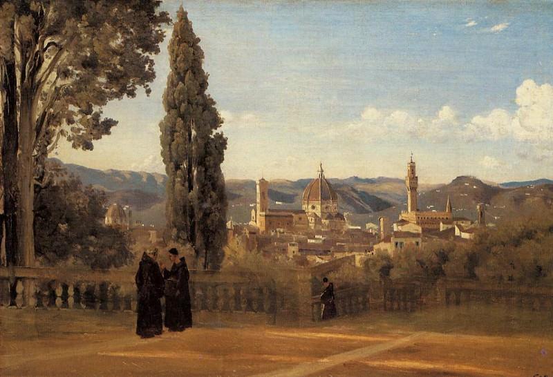 Florence The Boboli Gardens. Jean-Baptiste-Camille Corot