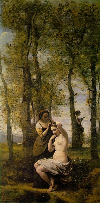 La Toilette (Landscape with Figures), 1859, Private co. Jean-Baptiste-Camille Corot