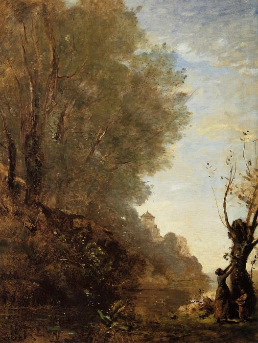 The Happy Isle. Jean-Baptiste-Camille Corot