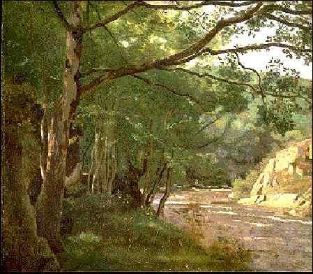 Дождевой поток в Морване, близ Лорма, 1860. Жан-Батист-Камиль Коро