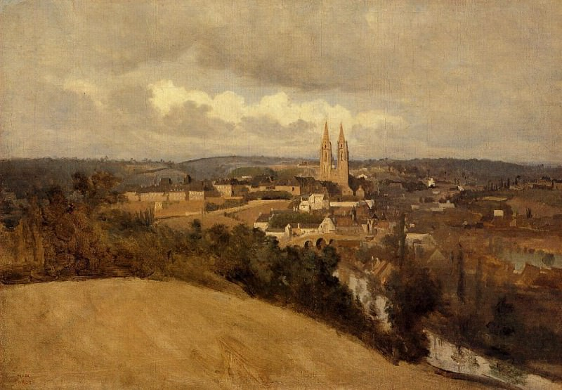 View of Saint Lo. Jean-Baptiste-Camille Corot