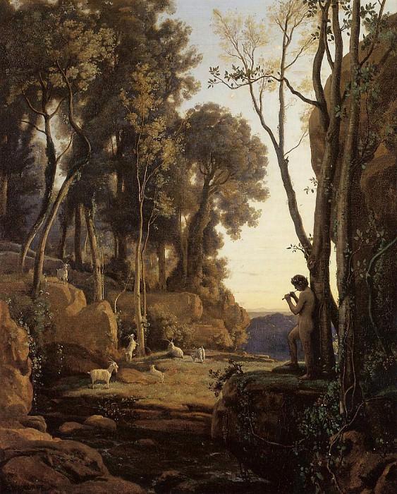 Landscape Setting Sun aka The Little Shepherd. Jean-Baptiste-Camille Corot