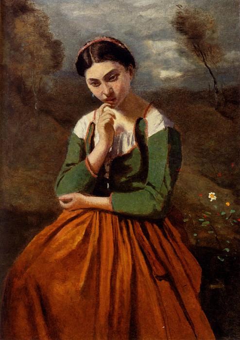Corot La Meditation. Jean-Baptiste-Camille Corot