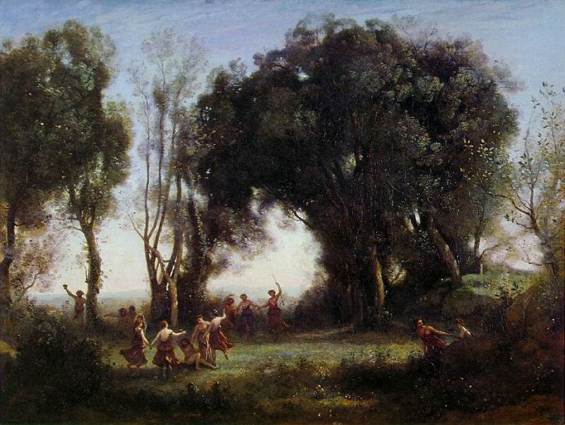 Morning, the Dance of the Nymphs, ca 1850, Louvre. Jean-Baptiste-Camille Corot