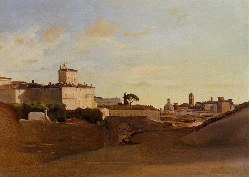 View of Pincio Italy. Jean-Baptiste-Camille Corot