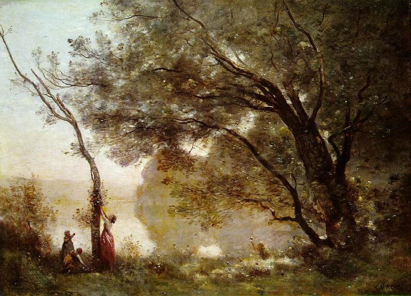 Souvenir of Mortefontaine, 1864, Louvre. Jean-Baptiste-Camille Corot