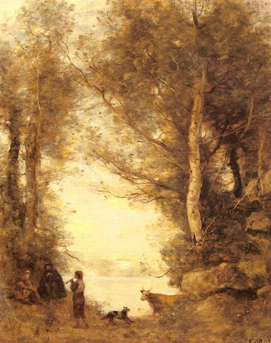 Le Joueur De Flute Du Lac D Albano. Jean-Baptiste-Camille Corot