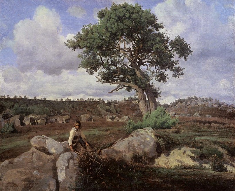Fontainebleau -The Raging One-. Jean-Baptiste-Camille Corot
