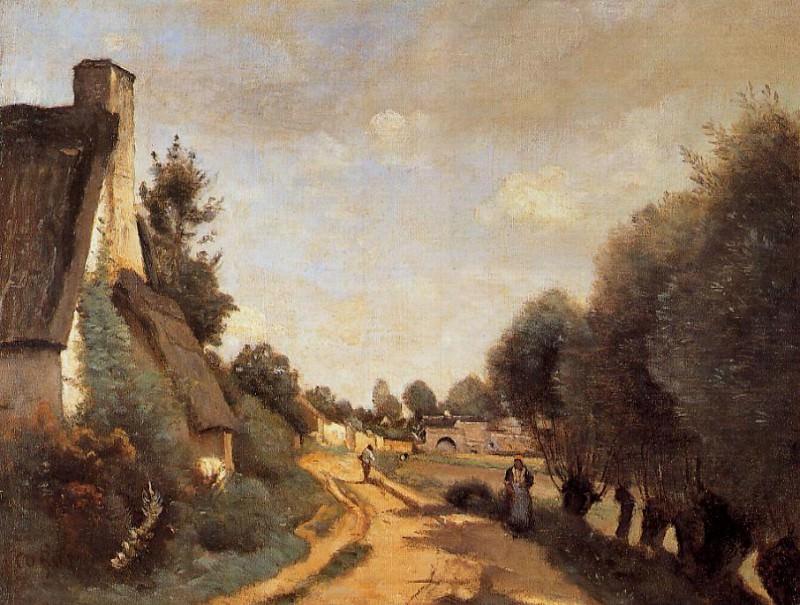 A Road near Arras. Jean-Baptiste-Camille Corot