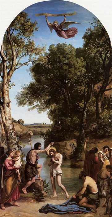 The Baptism of Christ. Jean-Baptiste-Camille Corot