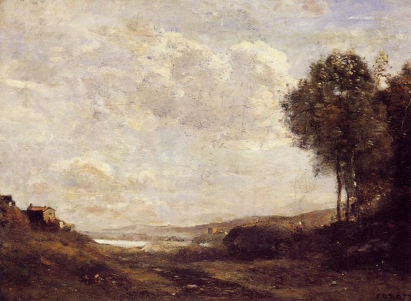 Пейзаж у озера. Жан-Батист-Камиль Коро