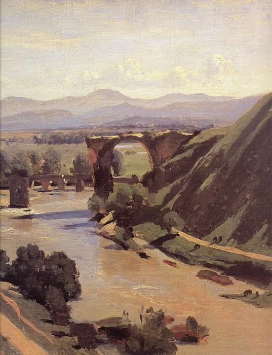 Мост времен императора Августа в Нарни, фрагмент. Жан-Батист-Камиль Коро