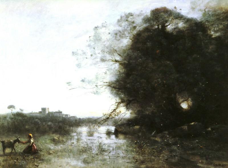 Le Marais Au Grand Arbre Et A La Chevriere O C. Jean-Baptiste-Camille Corot