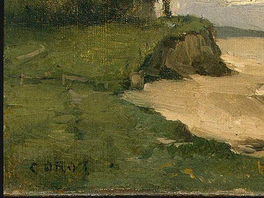 Beach near Etretat, 1872, Detalj 1, NG Washington. Jean-Baptiste-Camille Corot
