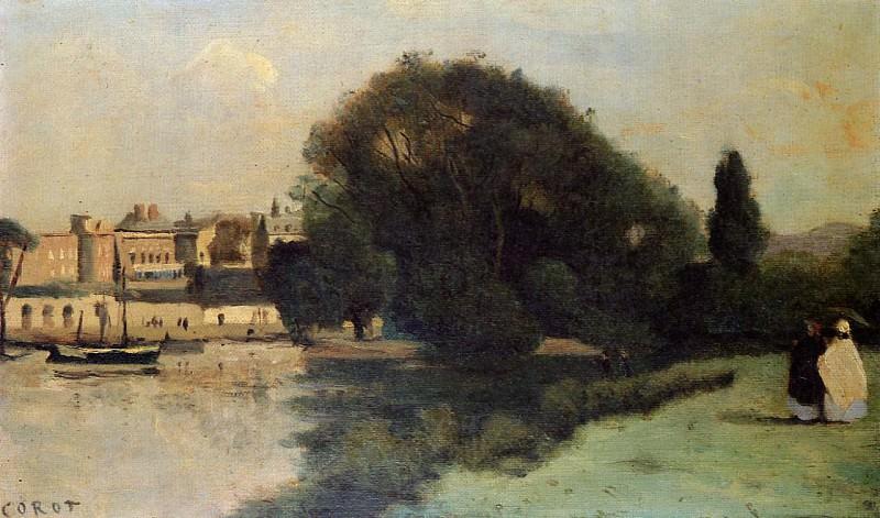 Richmond near London. Jean-Baptiste-Camille Corot